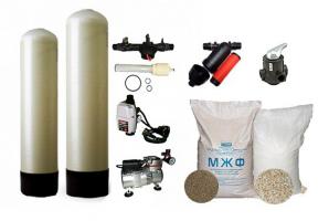 Обезжелезивание воды с ручным клапан Runxin, МЖФ + Аэрация