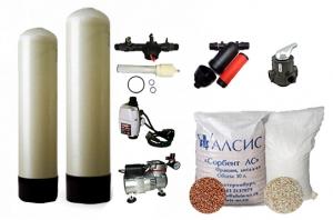 Обезжелезивание воды с ручным клапаном, WS,  Runxin, Сорбент-АС + Аэрация