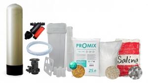 """Комплект обезжелезивания и умягчения ProMix """"A"""" с ручным клапаном TMF-64B 10x44 BTS-70 (от 0,7 до 1,0 куб/час)"""