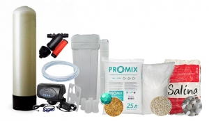 """Комплект обезжелезивания и умягчения ProMix """"A"""" с автоматическим клапаном TMF-65 (Р3) 10x44 (от 0,7 до 3,5 куб\час)"""